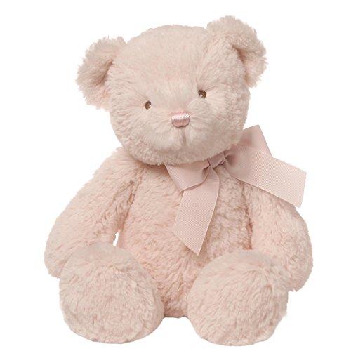 Baby GUND Peyton Teddy Bear Stuffed Animal Plush, Pink, (Dog Infant Teddy Bears)
