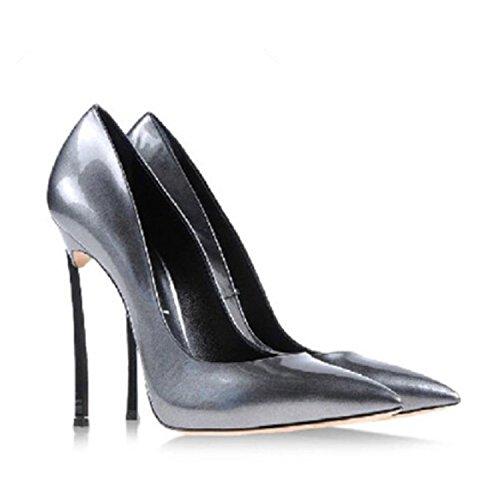 Pumput Nainen Kengät Stiletto Naisten Kiiltonahkaa 12cm Stewart Korkokengät Teräväkärkiset Beverly Seksikäs Tina x8qZwTIU