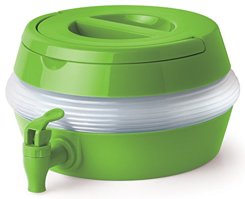 Collapsible Beverage Container Drink Dispenser – 2 Gallon Large Plastic Portable For Outdoor Picnics Parties And More For Adults And Kids – COLORS VARY