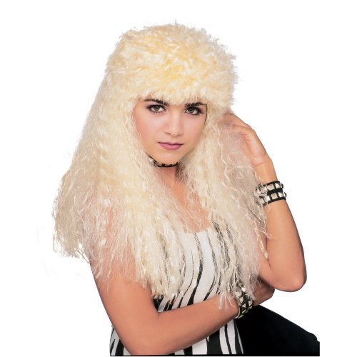 [Rubie's Costume Curly Blond Mullet Wig, Yellow, One Size] (Woman Bounty Hunter Costume)