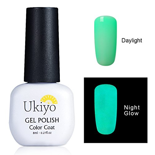 Gel Nail Polish Soak Off Gel Polish Night Glow Nail Polish LED UV Nail Polish Varnish by Ukiyo (Glow In The Dark Makeup Kit)