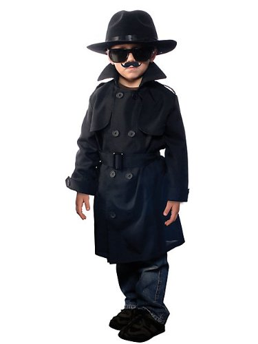 [Childs Jr. Secret Agent Costume] (Secret Agent Halloween Costume For Kids)