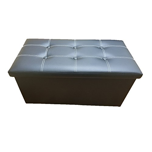 Buy Toy Story Furniture - Decor Hut Folding Storage Bench Hidden Storage Ottoman with Cover Faux Leather, Black Tufted