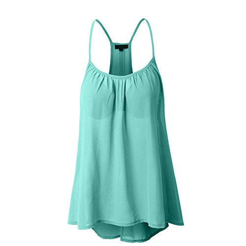 (XOWRTE Tops for Women Sexy Sleeveless T-Shirt Women Summer Vest Crop Tank Halterneck Mint Green)
