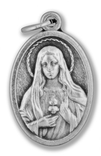 Small Catholic Saint Medal - Bulk Pack of 10 (Immaculate Heart of Mary)