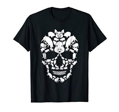 Pig Skull Shirt Skeleton Halloween Costume Idea Gift