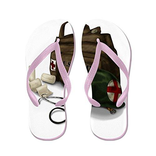 Cafepress Armé Medic - Flip Flops, Roliga Rem Sandaler, Strand Sandaler Rosa