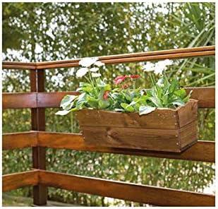 VDC Jardinera Madera Trapecio DELKO 63, 5 X 22 X 19: Amazon.es: Jardín