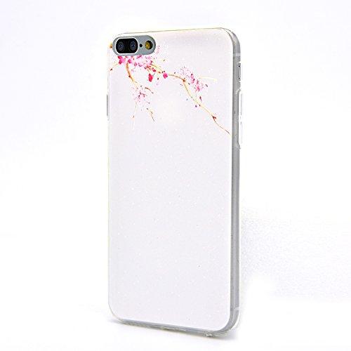 Funda iPhone 7 plus 5.5 Case Sunroyal - Funda de Silicona Gel TPU Flexible Carcasa , Ultra Delgada, Resistente a los Arañazos , Amortigua los Golpes , Protectora Anti-golpes Case Cover Cubierta Caja  A-03