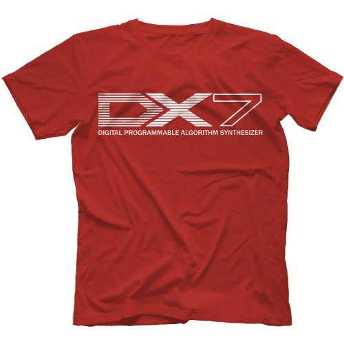 DX-7 Synthesiser T-Shirt in 13 Colours, red, XX-Large for sale  Delivered anywhere in USA