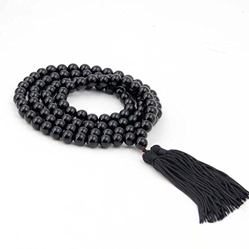 8mm Black Agate Necklace - 9