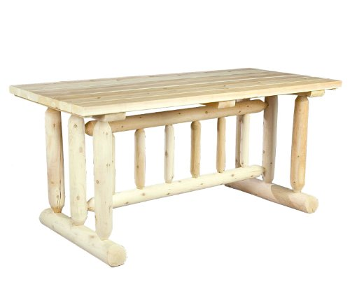 Cedarlooks 020021C Log Harvest Family Dining Table - Log harvest family dining table Solid cedar construction ensures years of maintenance free use. Can be painted, stained or left to wether to a natural silver grey. - patio-tables, patio-furniture, patio - 41A03FsL6AL -