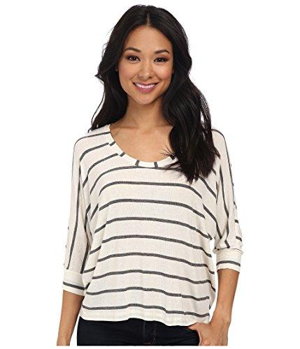 Splendid Women's Striped Drapey Dolman Bone T-Shirt XL (Women's 14-16)