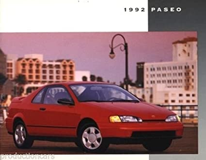 1992 Toyota Paseo 12-page Original Car Dealer Sales Brochure Catalog