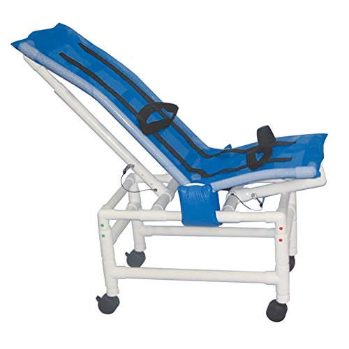 MJM International 191-LC-A Articulating Bath Chair Large with Casters, 180 oz Capacity, 50.25