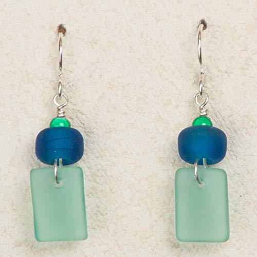(Sea Glass Mystic Earrings, with Teal Glass)