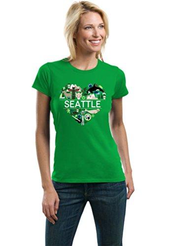 """I Heart Seattle, WA""   Washington Love Ladies' T-shirt-Ladies,M"