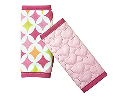 Nuby Quilted Strap Covers Pink Reversible Infant Car Seat Baby Belt Stroller Accessories Head Support Shoulder Pads