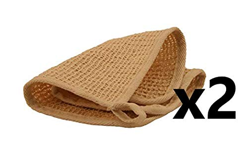 2 pack - All Natural Sisal Washcloth, 10 in x 10 in