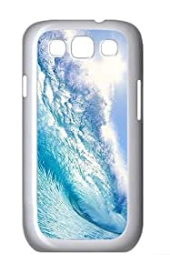 Samsung Galaxy S3 Case and Cover- Blue Wave Custom PC Case for Samsung Galaxy S3 / SIII / I9300 White