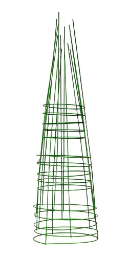 Glamos 748096 14-Inch x 42-Inch Heavy Duty Metal Tomato Cage - 5 Pack Light Green by Glamos