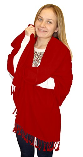 Elegant Soft Luxurious Pashmina Cashmere Wrap shawl stole From Peach Couture (Maroon)