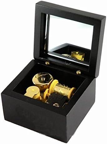 caja de música de madera de cuerda con el movimiento de oro en, jugar canción edelweiss: Amazon.es: Hogar