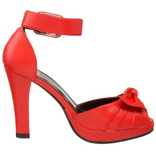 T.U.K. Vintage - Zapatos de tacón para mujer Rouge