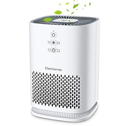 Elechomes Air Purifiers for Home with True HEPA Filter, Air Cleaner Purifier for Allergies and Pets Smokers Pollen Dust, Odor Eliminators for Home Bedroom with Aromatherapy, 215 sq. ft, EPI081 (Airborne Sore Throat)