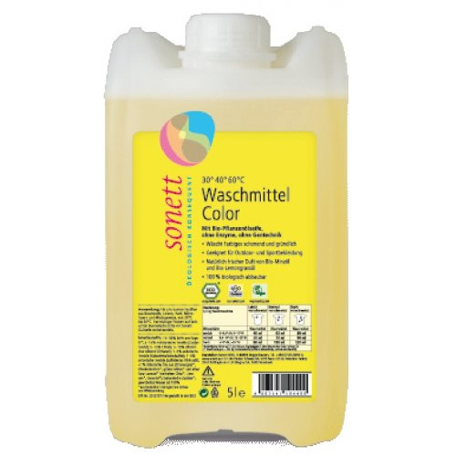 Sonett, Color-Waschmittel flüssig Mint & Lemon, 5000ml