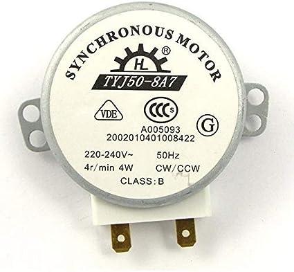 ROSENICE TYJ50-8A7 220V-240V 4 RPM 4W CWCCW horno microondas Turnable Motor sincrónico de CA