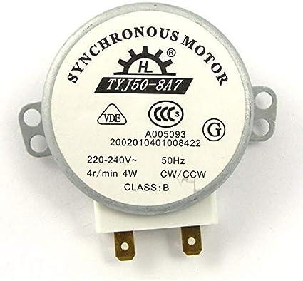 ROSENICE TYJ50-8A7 220V-240V 4 RPM 4W CWCCW horno microondas ...