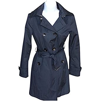 low price sale new specials agreatvarietyofmodels Amazon.com: Michael Kors Satin Trench Coat Navy Blue: Clothing