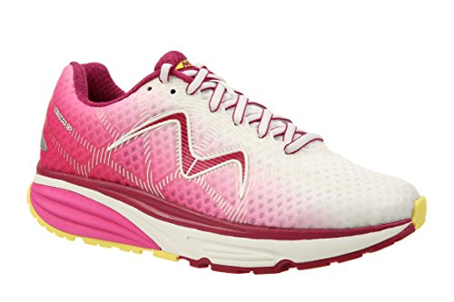 MBT Women's Simba 17 W Sneaker, Pink/Yellow, 8.5 Medium US Mbt Fitness Shoes
