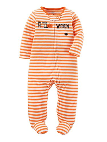 Carter's Just One You Baby Unisex Stripe Halloween Sleep N' Play- Orange -