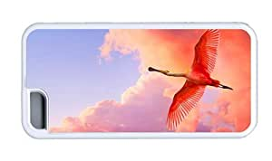 Hipster for cheap iPhone 5C case roseate spoonbill TPU White for Apple iPhone 5C