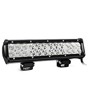 Nilight LED Light Bar 12 Inch 72W LED Work Light Spot Flood Combo LED Lights Led Bar Driving Fog Lights Jeep Off Road Lights Boat Lighting,2 Years Warranty