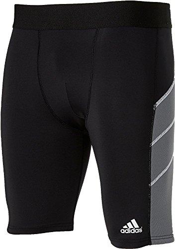 adidas Mens Triple Stripe Foam Sliding Shorts, (Black, M)