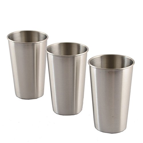 Fan-Ling 350mL Stainless Steel Cup,Drinking Juice Beer Cups, home Travel Picnic ()