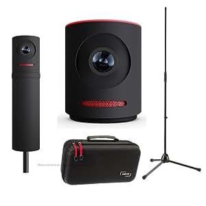 Mevo Live Event Camera by Livestream, Black - Bundle With Boost Livestream, Case For Live Event Camera, K&M 20170-500-55 Microphone Stand,