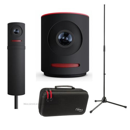 Mevo Live Event Camera by Livestream, Black - Bundle With Boost Livestream, Case For Live Event Camera, K&M 20170-500-55 Microphone Stand, (Event Bundle)