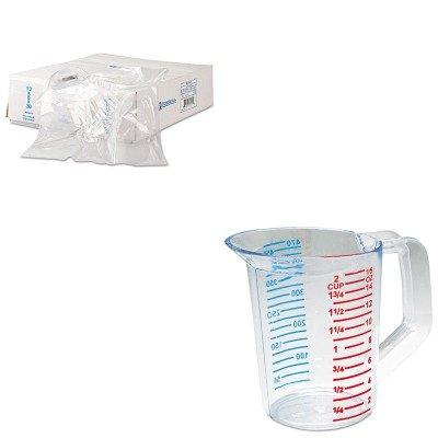(KITIBSBR52X80RCP3215CLE - Value Kit - Rubbermaid-Clear Bouncer Measuring Cups 1 Pint (RCP3215CLE) and Bun Rak Cover 52x80 15micr Gas-resist White, 50 (IBSBR52X80))