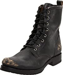 Made by a brand known for it's ability to weather the years, these signature FRYE Veronica Combat Boots take the classic, military look one step further with scuffed-up markings and worn leather for a vintage appeal.