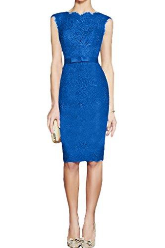 ivyd ressing Mujer Moderna Cinturón Punta Redonda Cuello funda de línea vestido de fiesta Prom vestido fijo para vestido de noche Azul