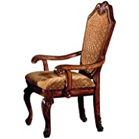ACME 04078B Set of 2 Chateau de Ville Arm Chair, Cherry Finish