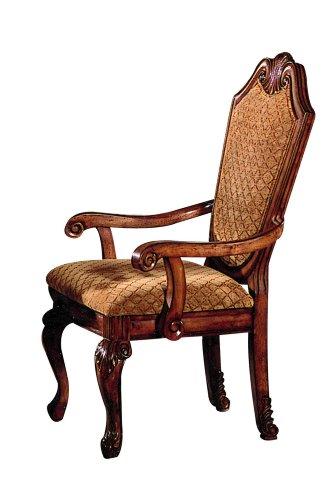ACME 04078B Set of 2 Chateau de Ville Arm Chair, Cherry Finish
