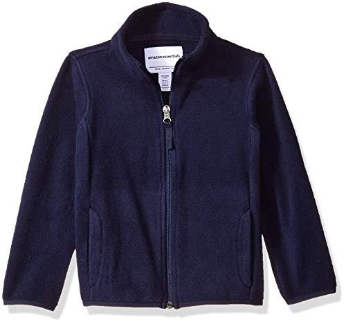 (Amazon Essentials Girl's Full-Zip Polar Fleece Jacket, Navy, Medium)