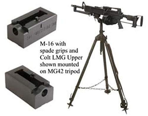 KNS Precision MG42 Tripod to Colt Light Machine Gun Adapter, Black, Adapter