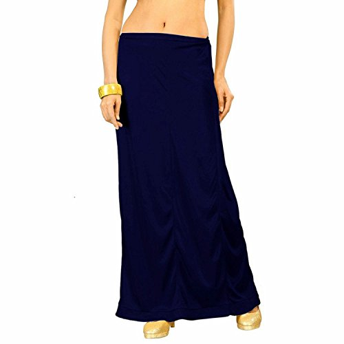 i Petticoat Stitched Saree Petticoat Sari Skirt (Navy) ()