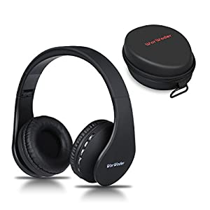 Bluetooth Headphones Over Ear, Wireless Foldable Hi-Fi Stereo Headset and Wired Headphones 4 in 1 with Micro Support SD/TF Card for Travel Cell Phones Samsung(Rose Gold)